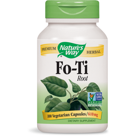 Nature's Way Fo-Ti Root 610 mg Non-GMO Project, Tru-ID? Certified, 100 Ct