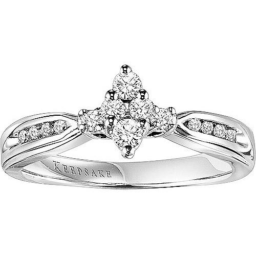 Keepsake Lovelight 1/4 Carat T.W. Certified Diamond 10kt White Gold Ring