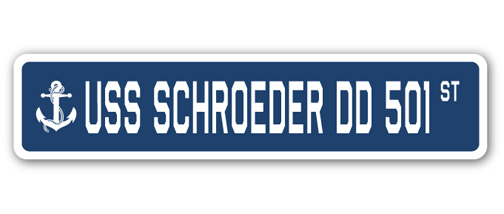 USS Schroeder DD 501 Personalized Canvas Ship Photo Print Navy Veteran Gift