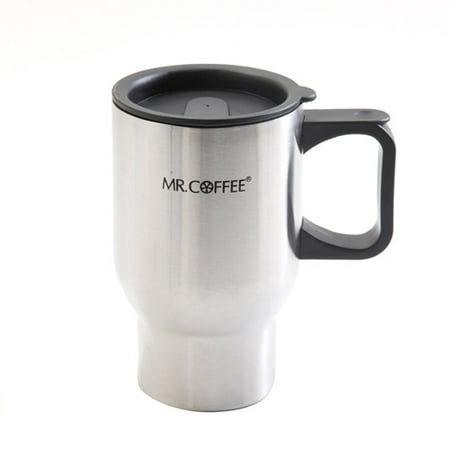 (Mr. Coffee Expressway 16-Ounce Double Wall Stainless Steel Travel Mug, 4-Pack)