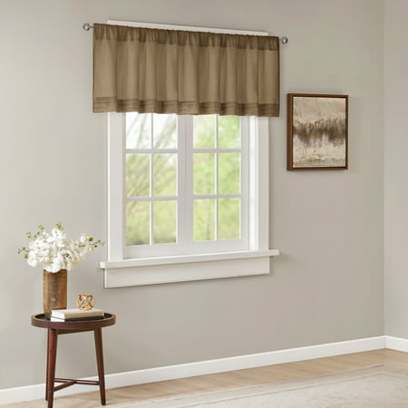Home Essence Viola Faux Silk Solid Pleated Valance