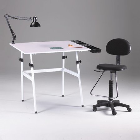 Martin Universal Design Berkeley Drafting Table and Chair Set ...