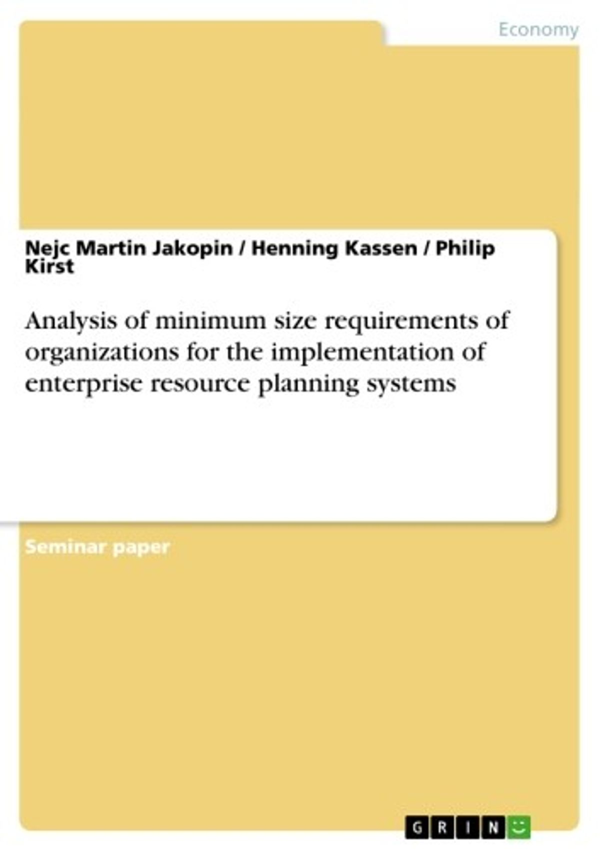Enterprise Resource Planning Ebook