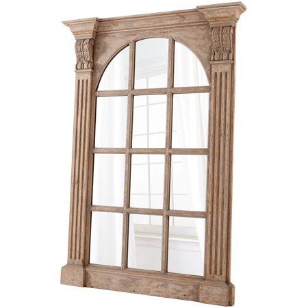 Wall Mirror Cyan Design Edelman Washed Oak Mirrored Glass Wood New Cy 3218
