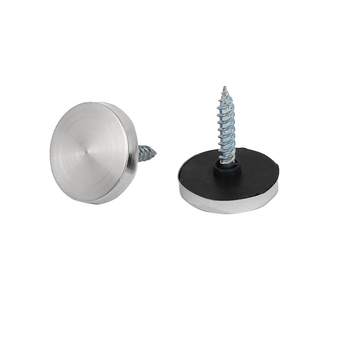 Porte salle ronde Table miroir acier inox bouchon vis Dia 20mm clou 200Pcs - image 2 de 3