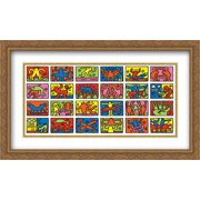 Retrospect 1989 2x Matted 32x24 Large Gold Ornate Framed Art Print by Keith Haring
