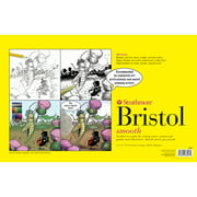Strathmore Sequential Art Bristol Paper Sheet, 300 Series, 11in x 17in, Smooth, 100 lb.