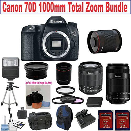 Canon EOS Rebel 70D Digital SLR Camera Body + Canon 18-55...