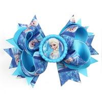 Else of Frozen Kids Headband Girls Hair Blue Princes Hair Pin Hair Bow Accessory Clip FRZ-HB-1