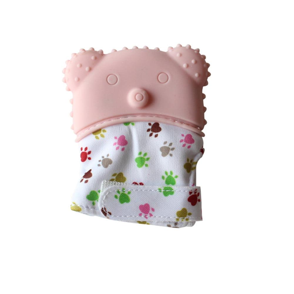 Baby Silicone Vocal Cartoon Teeth Grinding Gutta-percha Molar Teether Gloves