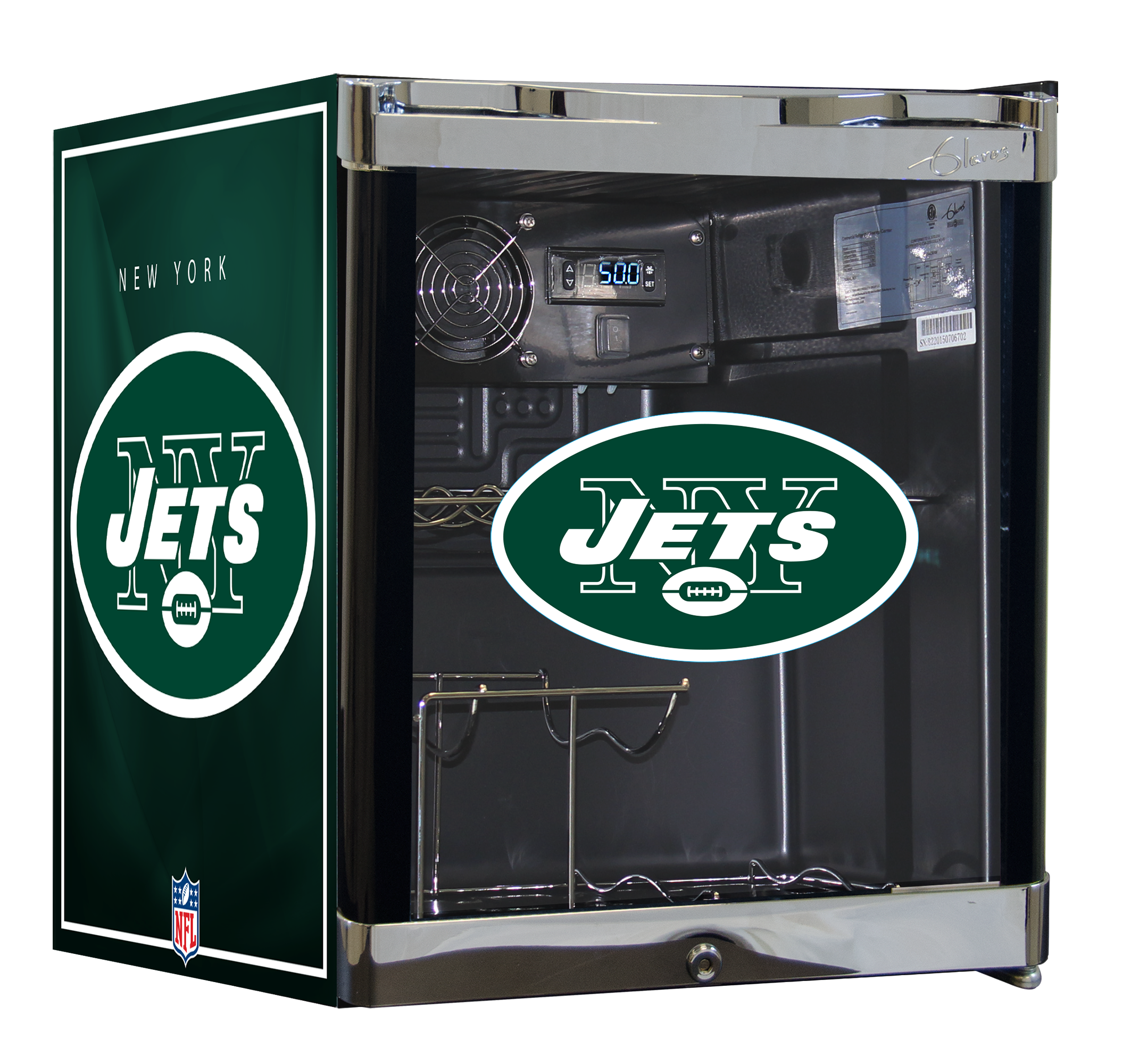 NFL Wine Cooler 1.8 cu ft- New York Jets
