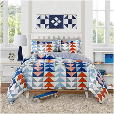 Better homes and gardens kids striped triangles comforter - Better homes and gardens bedding ...