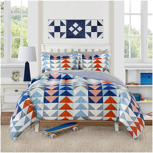 Better Homes and Gardens Kids Striped Triangles Comforter Set