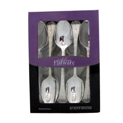Silver Flatware Soup Spoons in Box/Case of 800