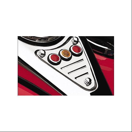 Cobra Billet Fluted Chrome Dash Plaque Fits 00-07 Kawasaki Vulcan 800 VN800E Drifter