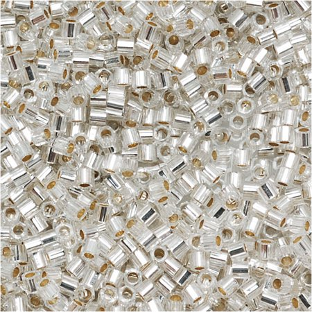 Miyuki Delica Hex Cut Seed Beads 15/0 Silver Lined Crystal DBSC041 4 - Hex Cut Seed Beads