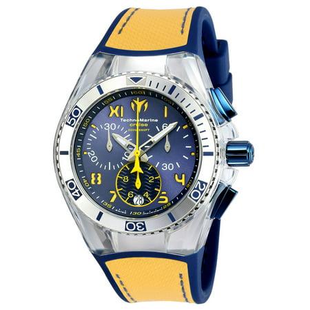 Technomarine Unisex TM-115015 Cruise California Quartz Chronograph Blue, Yellow Dial Watch