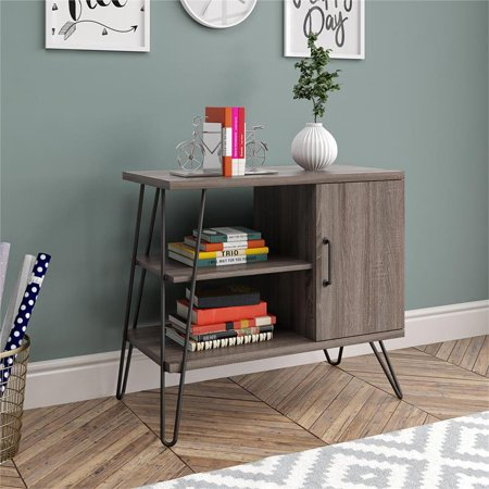 Ameriwood Home Haven 3 Shelf Bookcase in Distressed Gray Oak