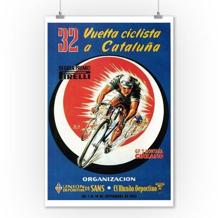 Bicycle Racing - Vintage Advertisement (9x12 Art Print, Wall Decor Travel Poster)