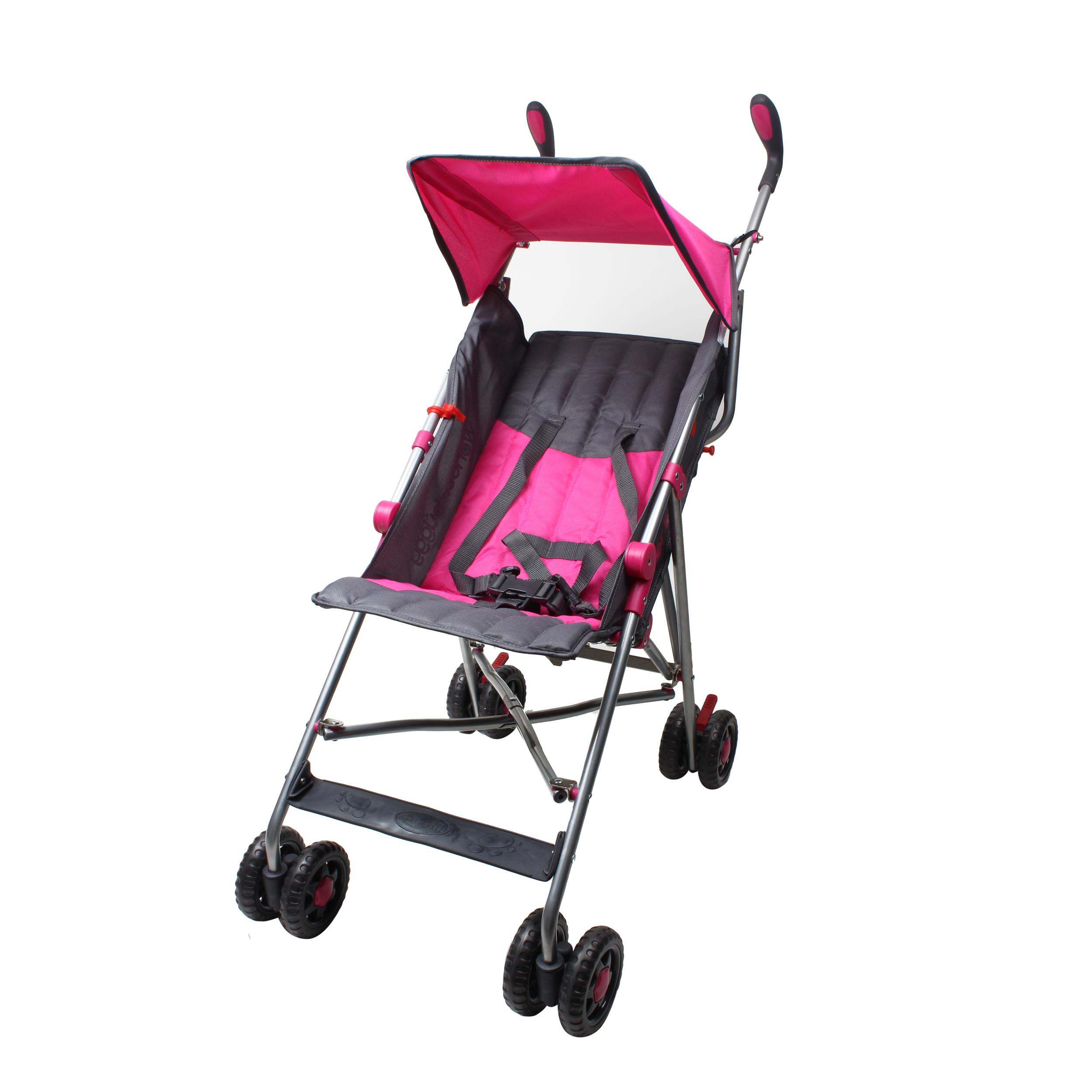 Wonder Buggy Taylor Umbrella Stroller With Flat Canopy - Solid Burgundy