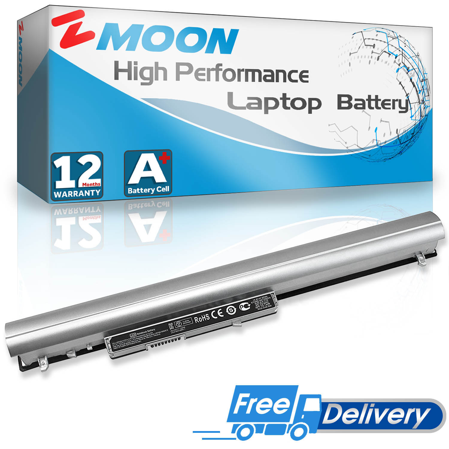 Replacement Battery Compatible with HP 776622-001 728460-001 752237-001 LA04 LA04DF TPN-Q132 TPN-Q129 HSTNN-DB5M HSTNN-YB5M HSTNN-UB5M F3B96AA