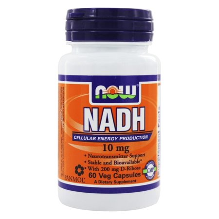 NOW Foods - NADH With 200 mg D Ribose 10 mg. - 60 Vegetarian