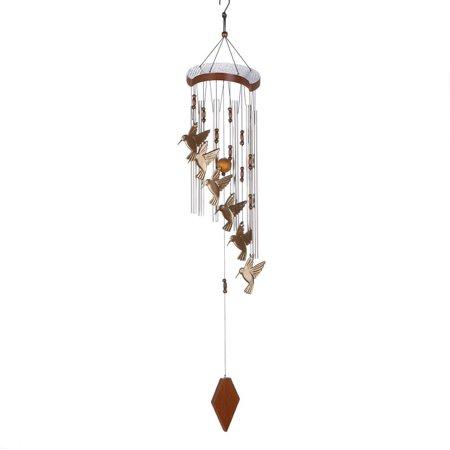 Home Locomotion Hummingbird Cascading Windchime, 5.5