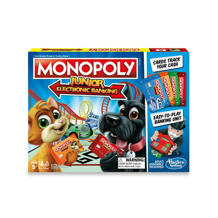 Monopoly Junior Electronic Banking, Games for Ages 5 and up