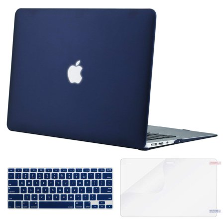 outlet store a27b0 5dccb Mosiso MacBook Air 13 Inch Plastic Hard Cover Case A1466/A1369 Model,Navy  Blue