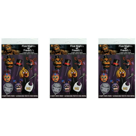 (3 Pack) Five Nights at Freddy's Photo Booth Props, - Halloween Night Party 2017