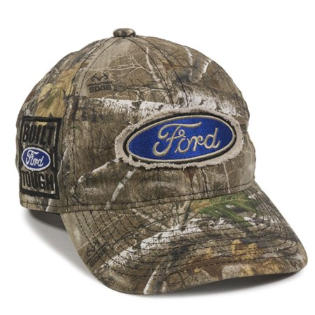 (Ford Built Tough Realtree Edge Camo Frayed Patch Cap)