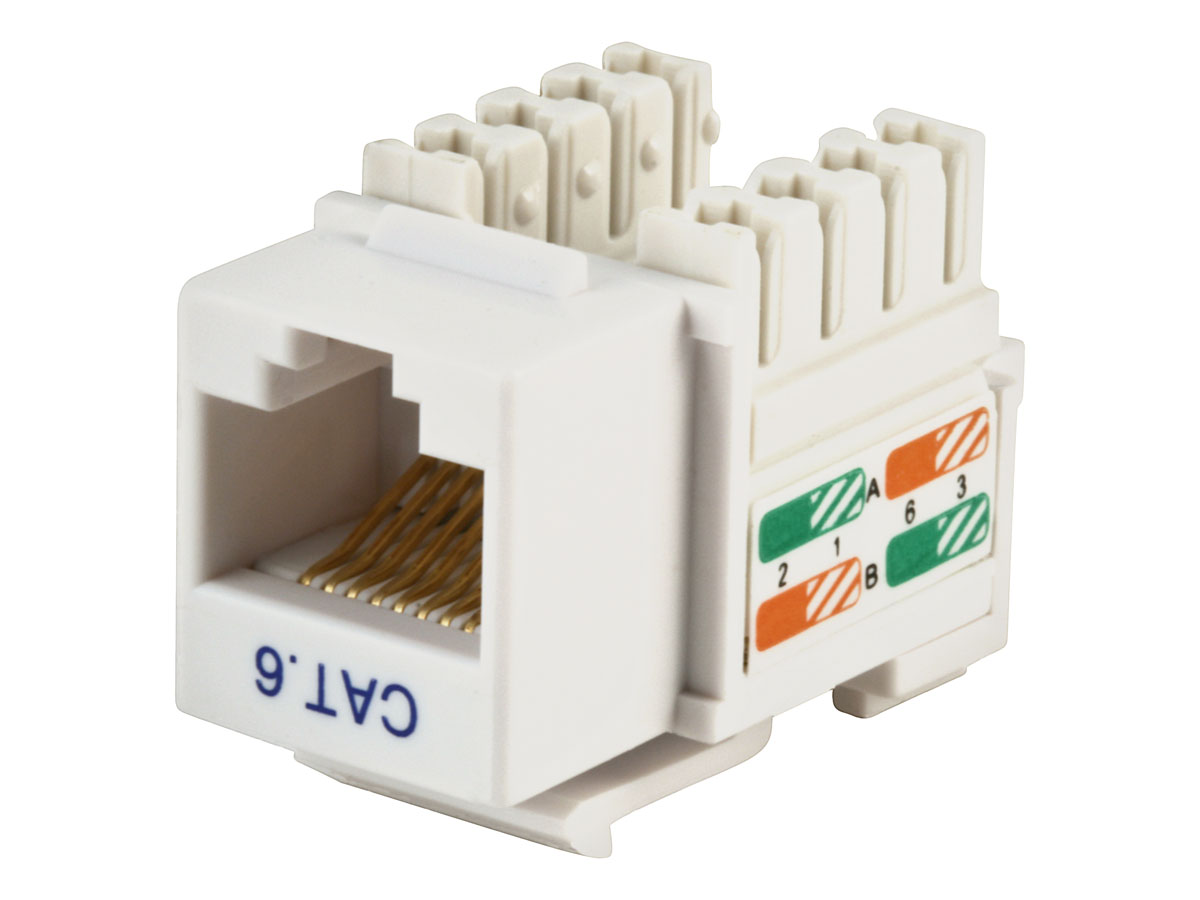Monoprice Cat6 Punch Down Keystone Jack - White - Walmart.com on cat 5 wall jack diagram, cat5e pinout diagram, keystone jack specifications, cat5 termination diagram, rj45 punch down diagram, cat 6 jack diagram, rj45 jack diagram, cat5e jack diagram, keystone jack dimensions,