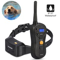 Deep Waterproof & Rechargeable Dog Training Collar with Remote Best for Swimming Training Electronic Shock Collar with Beep / Vibrate / Shock / LED Light