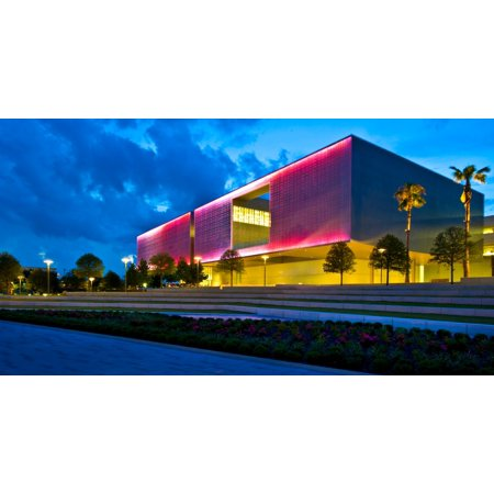 Tampa Museum of Art at dusk Tampa Hillsborough County Florida USA Poster Print by Panoramic