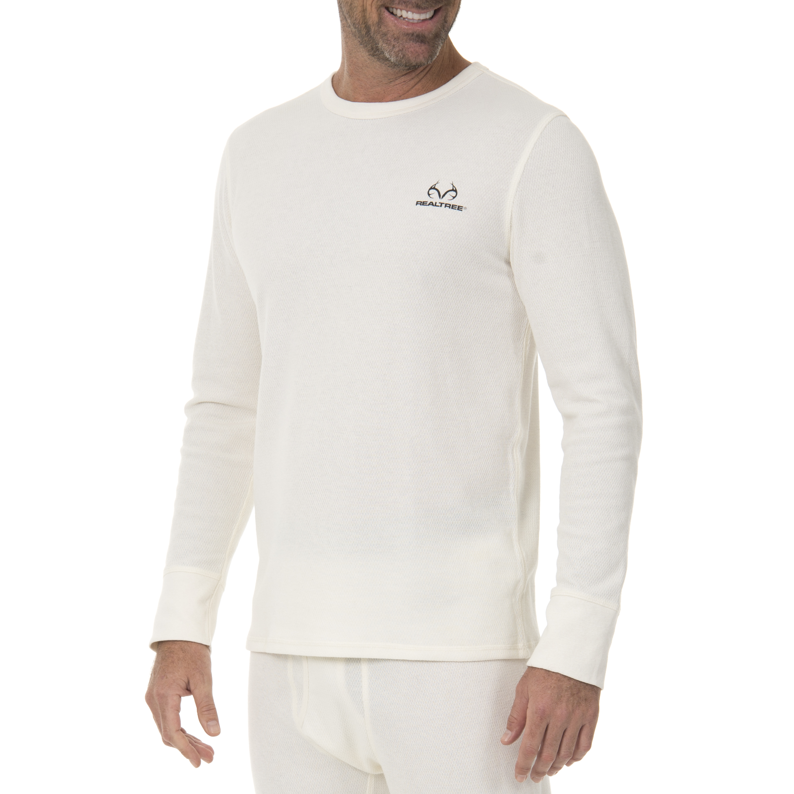 Realtree Men's Heavyweight Cotton Thermal Top by IVORY DIV OF INTRADECO