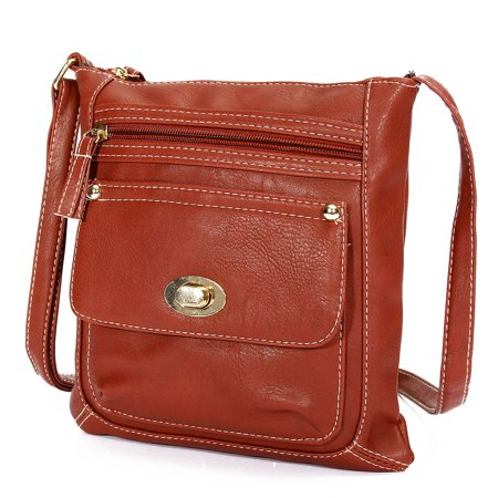 Leather Messenger Handbag (Fashion Shoulder Bag Handbag Crossbody Messenger PU Leather Small Zipper For Women )