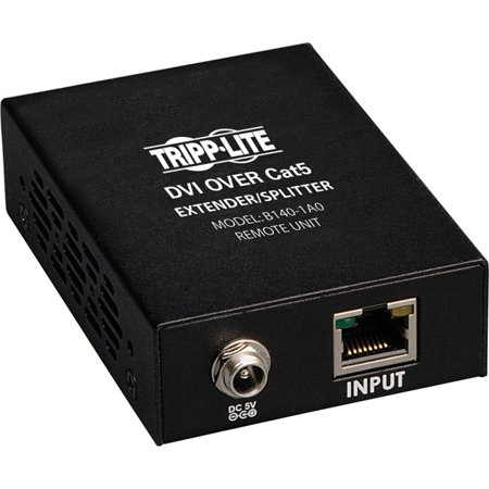 Tripp Lite B140 1A0 DVI over Cat5/Cat6 Active Extender, Box Style Remote Video Receiver, 1920x1080 at 60Hz, Up to 200 ft., TAA
