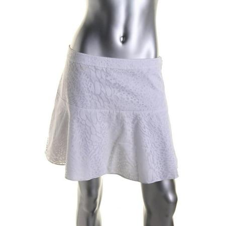 - Rachel Rachel Roy Womens Burnout Animal Print A-Line Skirt