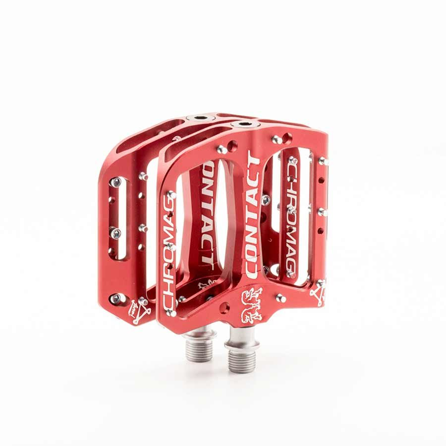 Chromag, Contact, Platform pedals, Bushing and sealed bearings, Aluminium body, Red