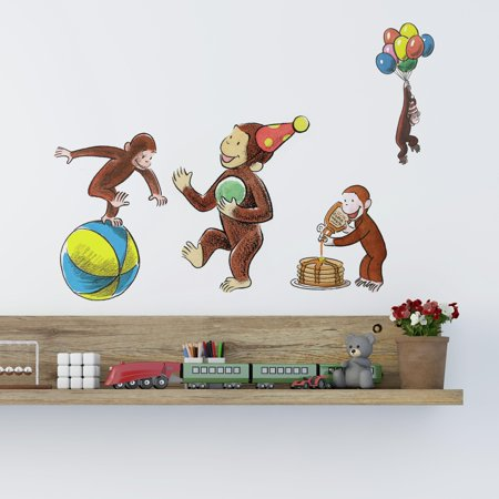 Curious George Storybook Peel and Stick Wall Decals Curious George Wall Decor