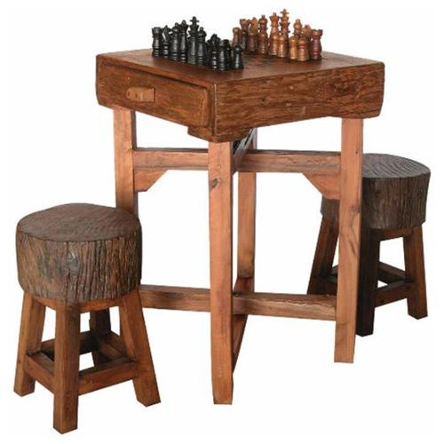 Groovystuff TF-0538-S Hill Country Chess Table - S