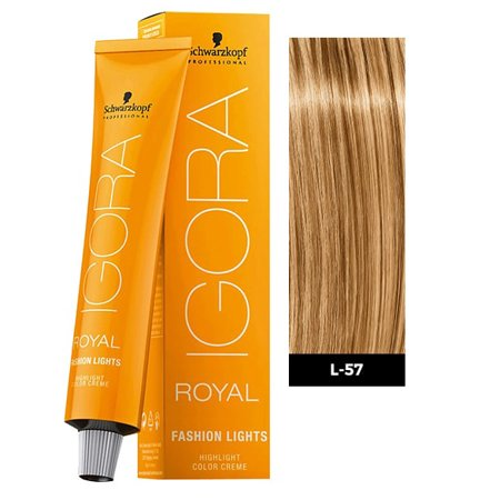 Schwarzkopf Igora Royal Fashion Lights Hair Color, L-57 Gold