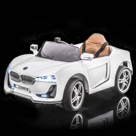 Sportrax Bmw I8 Style Kids Ride On Car  Battery Powered  Remote Control  W Free Mp3 Player   White