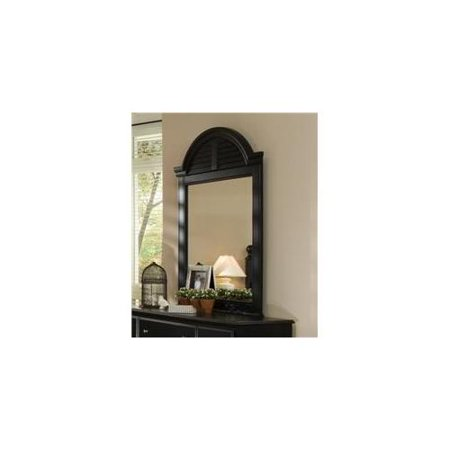 Carolina furniture 436700 midnight vertical cottage mirror for Better homes and gardens baroque wall mirror black
