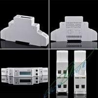 EOTVIA DIN-Rail Electric Meter,Single phase Din rail energy Meter,Digital LCD 220V Single phase DIN-Rail Electric Meter 5-32A Electronic KWh Meter