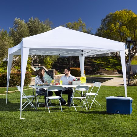 Best Choice Products 10x10ft Outdoor Portable Lightweight Folding Instant Pop Up Gazebo Canopy Shade Tent w/ Adjustable Height, Wind Vent, Carrying Bag - (Best Ez Up Canopy For Camping)