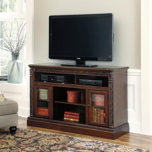 Signature Design by Ashley Signature Designs by Ashley North Shore Dark Brown Finish TV Stand