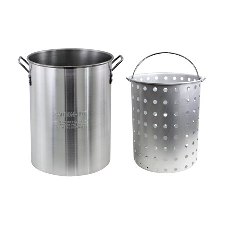 100 Quart Aluminum Stock Pot - Chard 30 Qt. Aluminum Pot With Strainer Basket