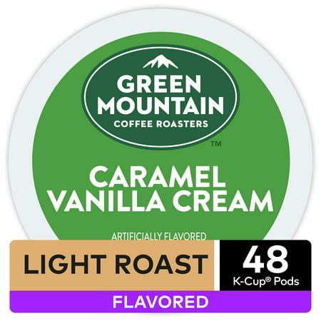 Caramel Vanilla Toffee - Green Mountain Coffee Caramel Vanilla Cream, Flavored Keurig K-Cup Pod, Light Roast, 48 Ct