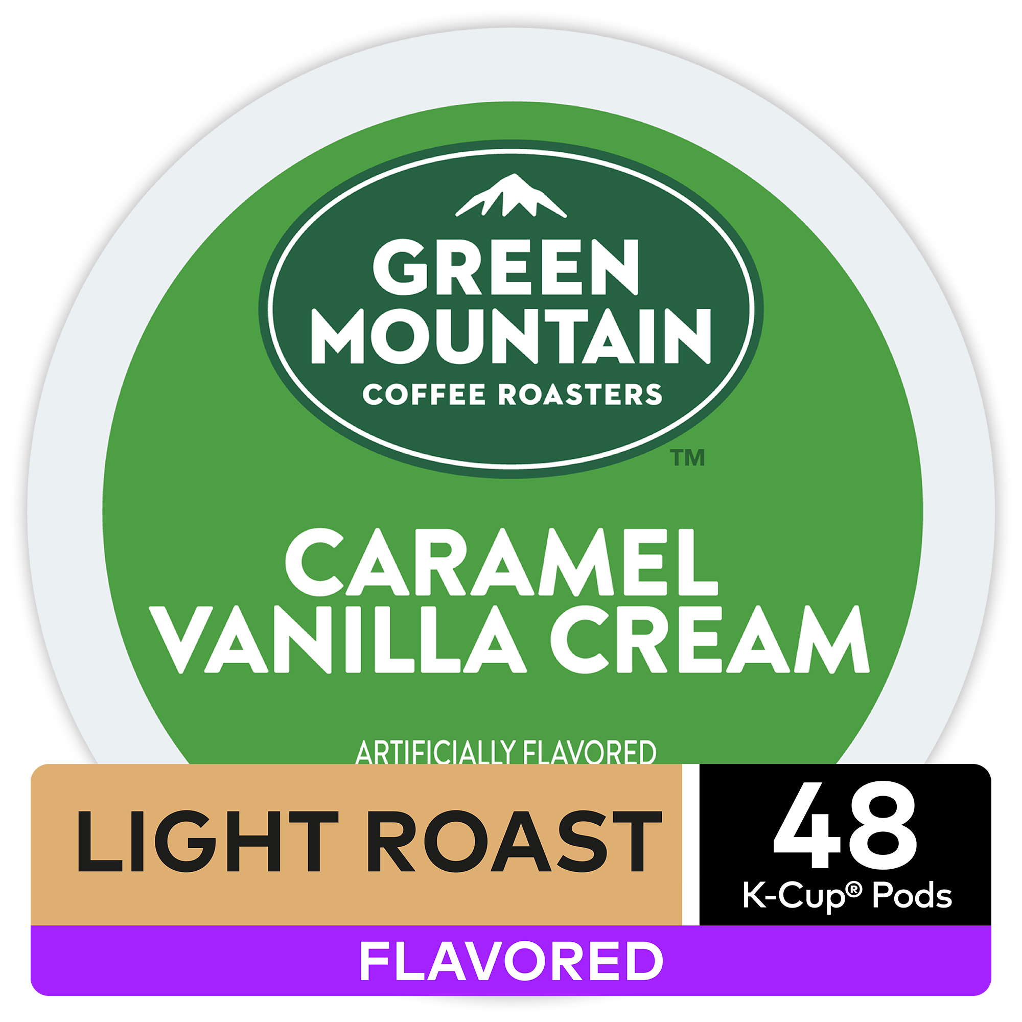 Green Mountain Coffee Caramel Vanilla Cream, Flavored Keurig K-Cup Pod, Light Roast, 48 Ct